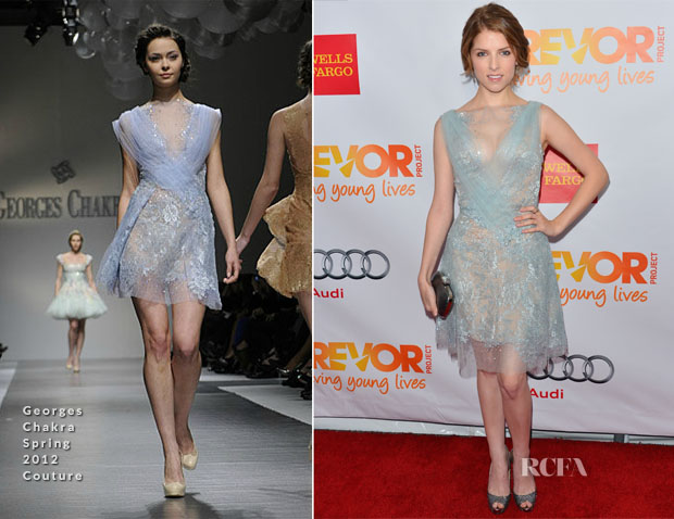 Anna Kendrick In Georges Chakra Couture - 'Trevor Live' Event