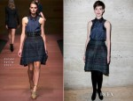 Anne Hathaway In Carven - 'Les Miserables' Luncheon