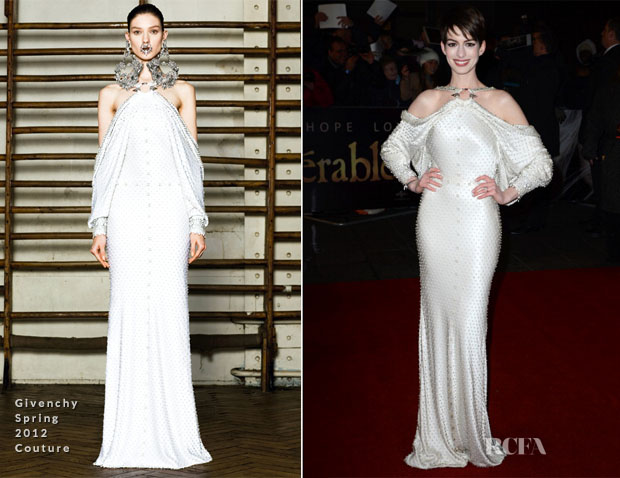 Anne Hathaway In Givenchy Couture - 'Les Miserables' London Premiere
