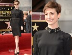 Anne Hathaway In Prada - Hollywood Walk of Fame Unveiling