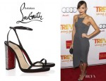 Ashley Madekwe's Christian Louboutin Au Palace Crystal Heel Sandals