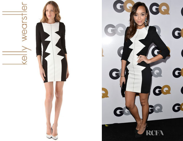 Ashley Madekwe's Kelly Wearstler Sharks Tooth Dezza Dress