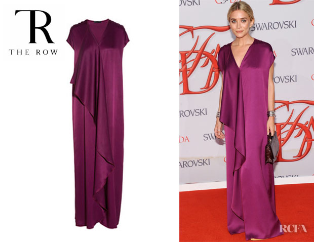 Ashley Olsen's The Row Priston Silk Satin Maxi Dress