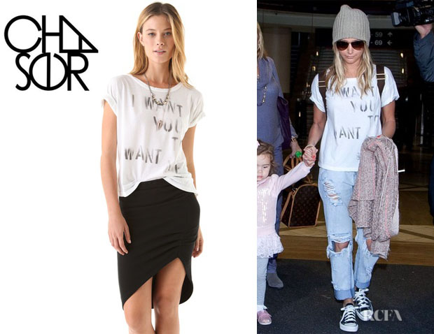 Ashley Tisdale's Chaser Want You Want Me Boxy Tee