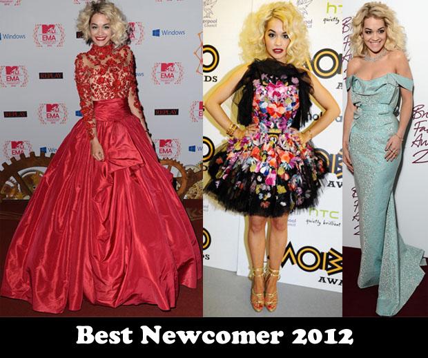 Best Newcomer 2012 - Rita Ora