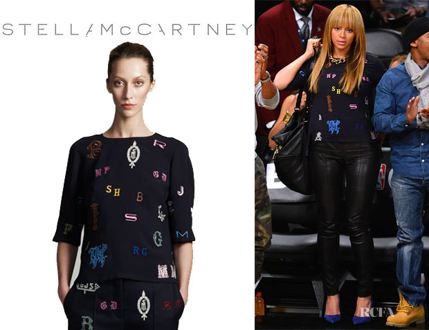 Beyonce Knowles' Stella McCartney Cady Monogram Top