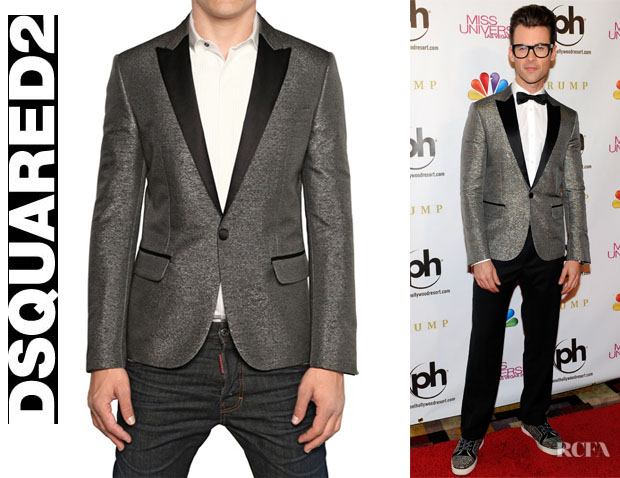 Brad Goreski's DSquared² Xmas Tux Lame And Satin Jacket1
