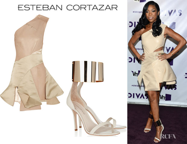 Brandy's Esteban Cortazar Asymmetric Dress And Esteban Cortazar Sandals