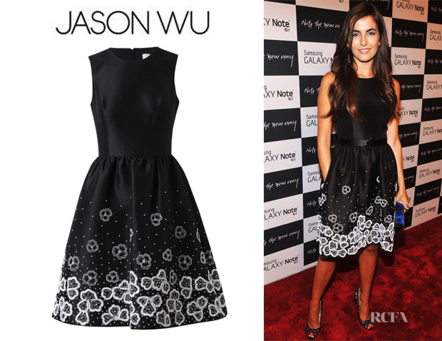 Camilla Belle's Jason Wu Embellished Silk Dress