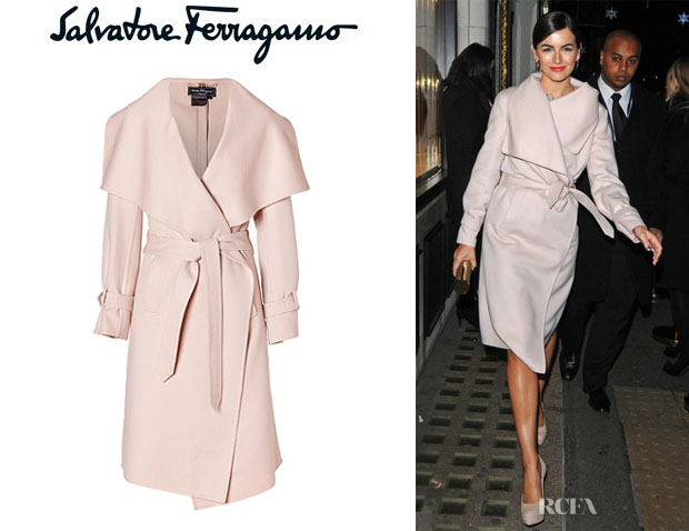 Camilla Belle's Salvatore Ferragamo Wool And Cashmere Blend Coat