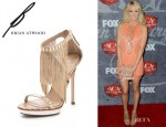 Carrie Underwood's B Brian Atwood Cassiane Fringe Sandals