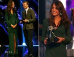 Catherine, Duchess of Cambridge In Alexander McQueen - BBC Sports Personality Of The Year