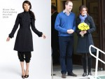 Catherine, Duchess of Cambridge In Diane Von Furstenberg - King Edward VII Hospital