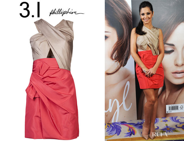 Cheryl Cole's 3.1 Phillip Lim Taffeta Bow Dress