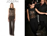Cheryl Cole's Joseph Kip Lace Top Jumpsuit