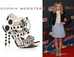 Chloe Moretz' Sophia Webster Yayoi Patent And Leather Sandals