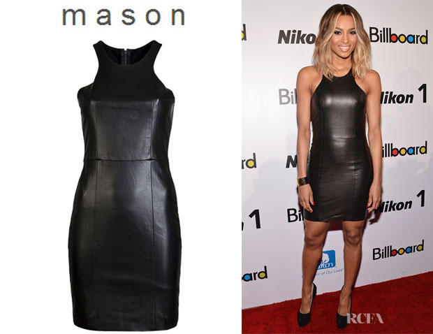 Ciara's Mason by Michelle Mason Leather Dress