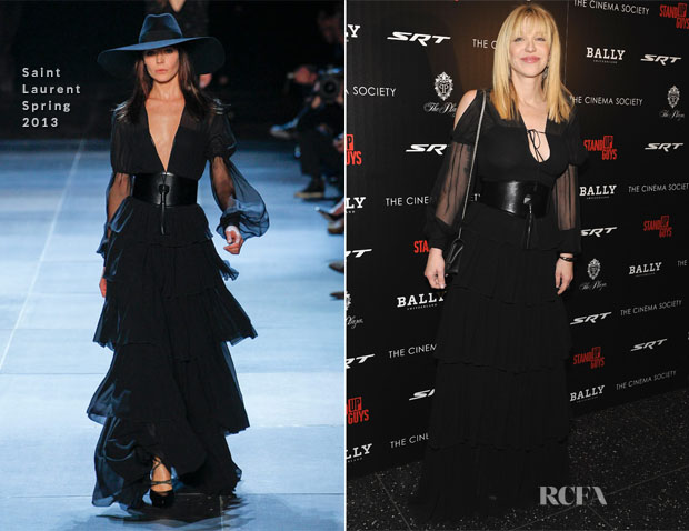 Courtney Love In Saint Laurent - 'Stand Up Guys' New York Premiere