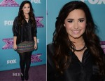 Demi Lovato In Topshop - The X Factor Season Finale News Conference