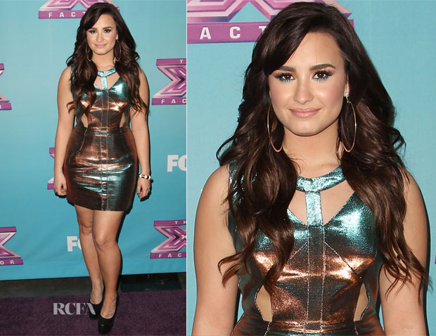 Demi Lovato In Topshop - 'The X Factor' Season Finale