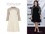 Demi Lovato's Topshop Pearl Swing Dress