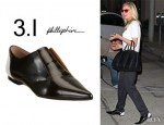 Diane Kruger's 3.1 Phillip Lim Nancy Oxford Flats