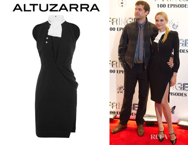 Diane Kruger's Altuzarra Tie Collar Roy Dress