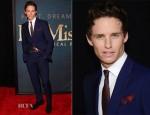 Eddie Redmayne In Alexander McQueen - 'Les Miserables' New York Premiere