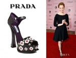 Elizabeth Banks' Prada Flower Appliqué Sandals