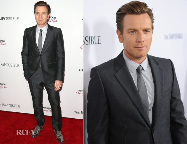 Ewan McGregor In Balenciaga - 'The Impossible' LA Premiere