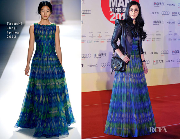 Fan Bingbing In Tadashi Shoji - Esquire Man At His Best 2012