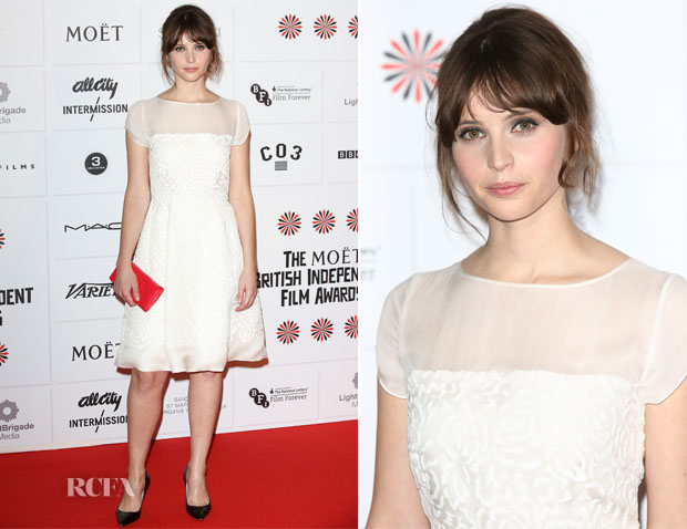 Felicity Jones In  Dior - British Independent Film Awards  2012