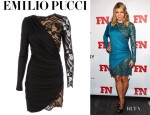Fergie's Emilio Pucci Asymmetric Dress
