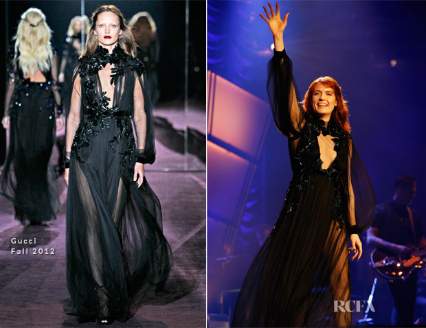 Florence Welch In Gucci - Florence And The Machine London Concert
