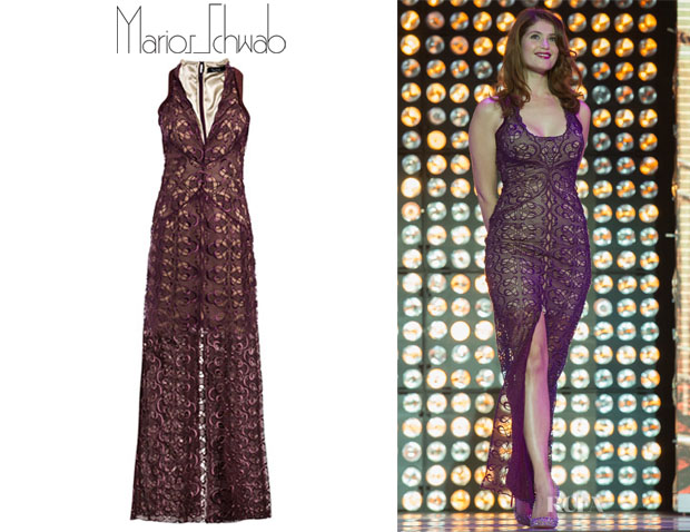 Gemma Arterton's Marios Schwab Alicia Art-Nouveau Lace Dress