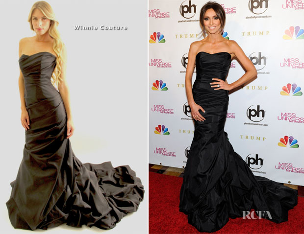 Giuliana Rancic In Winnie Couture - 2012 Miss Universe Pageant