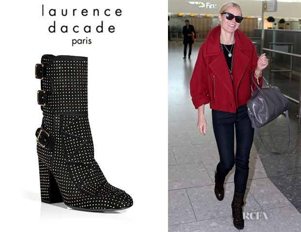Gwyneth Paltrow's Laurence Dacade Suede Boots With Gold Studs