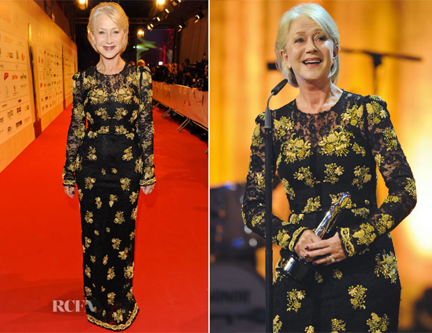 Helen Mirren In Dolce & Gabbana - 25th European Film Awards