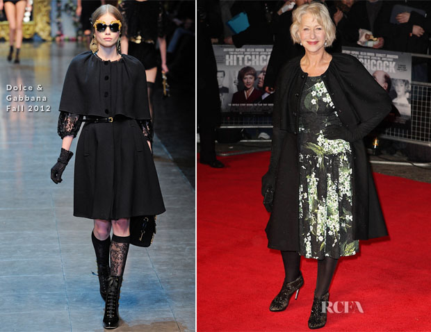 Helen Mirren In Dolce & Gabbana - 'Hitchcock' London Premiere