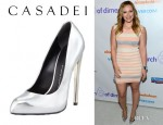 Hilary Duff's Giuseppe Zanotti Mirror Patent Leather Pump