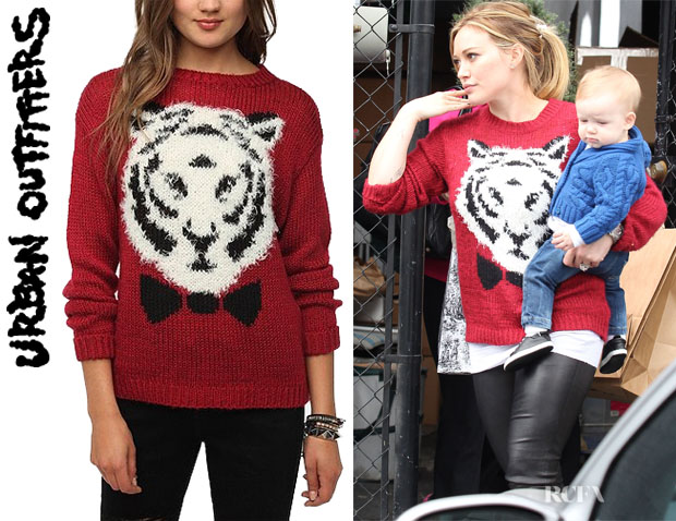 Hilary Duff's Pins And Needles Flocked Wildlife Pullover