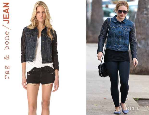 Hilary Duff's Rag & BoneJEAN Jacket with Leather Sleeves