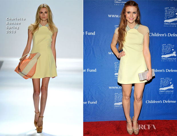 Holland Roden In Charlotte Ronson - 2012 Children's Defense Fund Beat The Odds Awards