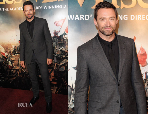 Hugh Jackman In Lanvin - 'Les Miserables' London Premiere