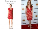 Isla Fisher's Reem Acra Lace Cocktail Dress