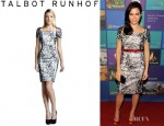 Jenna Dewan-Tatum's Talbot Runhof Printed Cocktail Dress