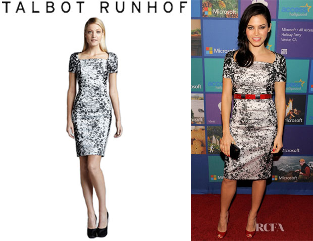 Jenna Dewan's Talbot Runhof Printed Cocktail Dress