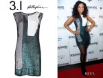 Jennifer Hudson's 3.1 Phillip Lim Sequined Collage Cocktail Dress
