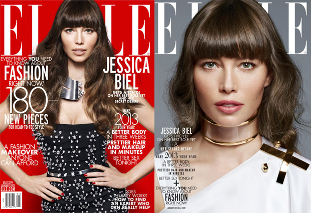 Jessica Biel Elle US Covers