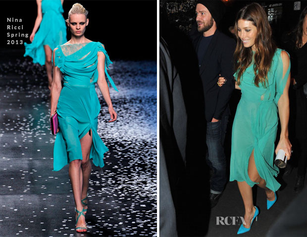 Jessica Biel In Nina Ricci - 'Playing for Keeps' Premiere After-Party
